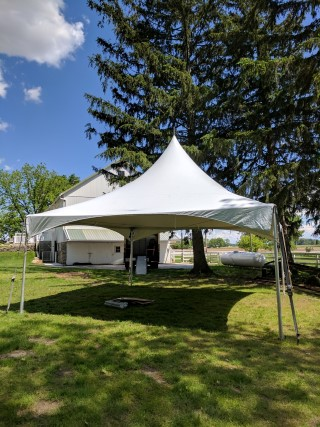 20' x 20' California Style Frame Tent.