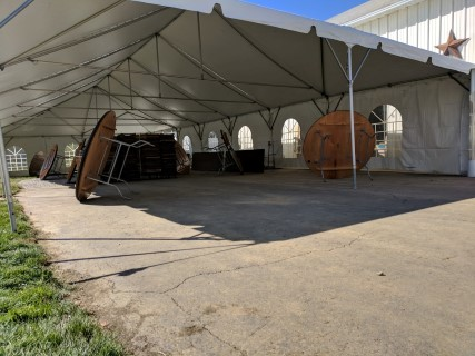 30' x 70' Frame Tent, Cathedral Side Panels.